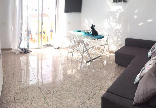 Apartment in Playa de Las Americas - #ATTICO 8 FLORITAS,  CON VISTA AL MARE e PISCINA